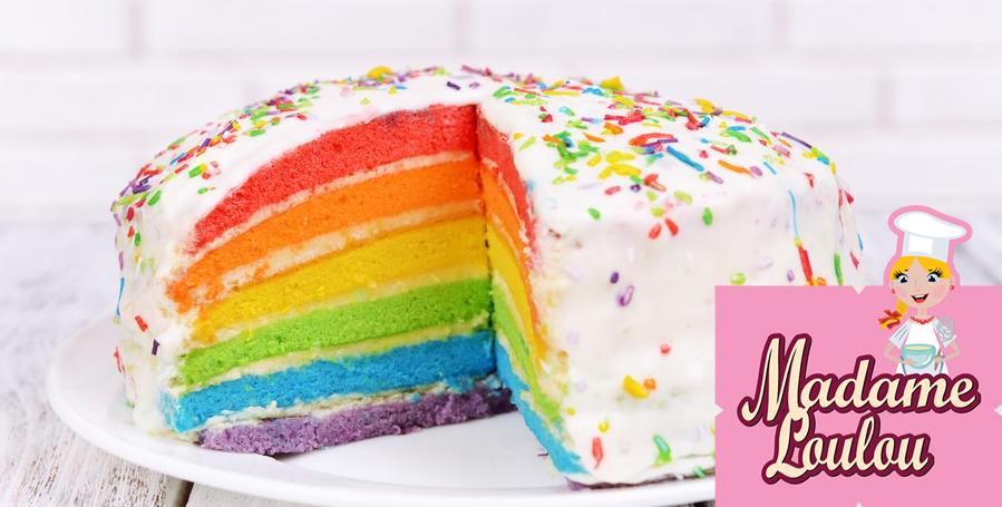 Rainbow Cake MADAME LOLOU
